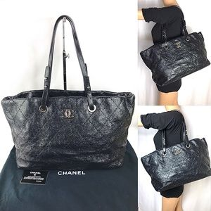 GORGEOUS 💎ZIPPER QUILTED CHANEL 💎TOTE LEATHER